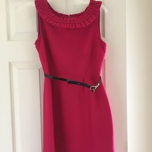 kate spade Dresses - Ruffled collar fuschia Kate Spade dress